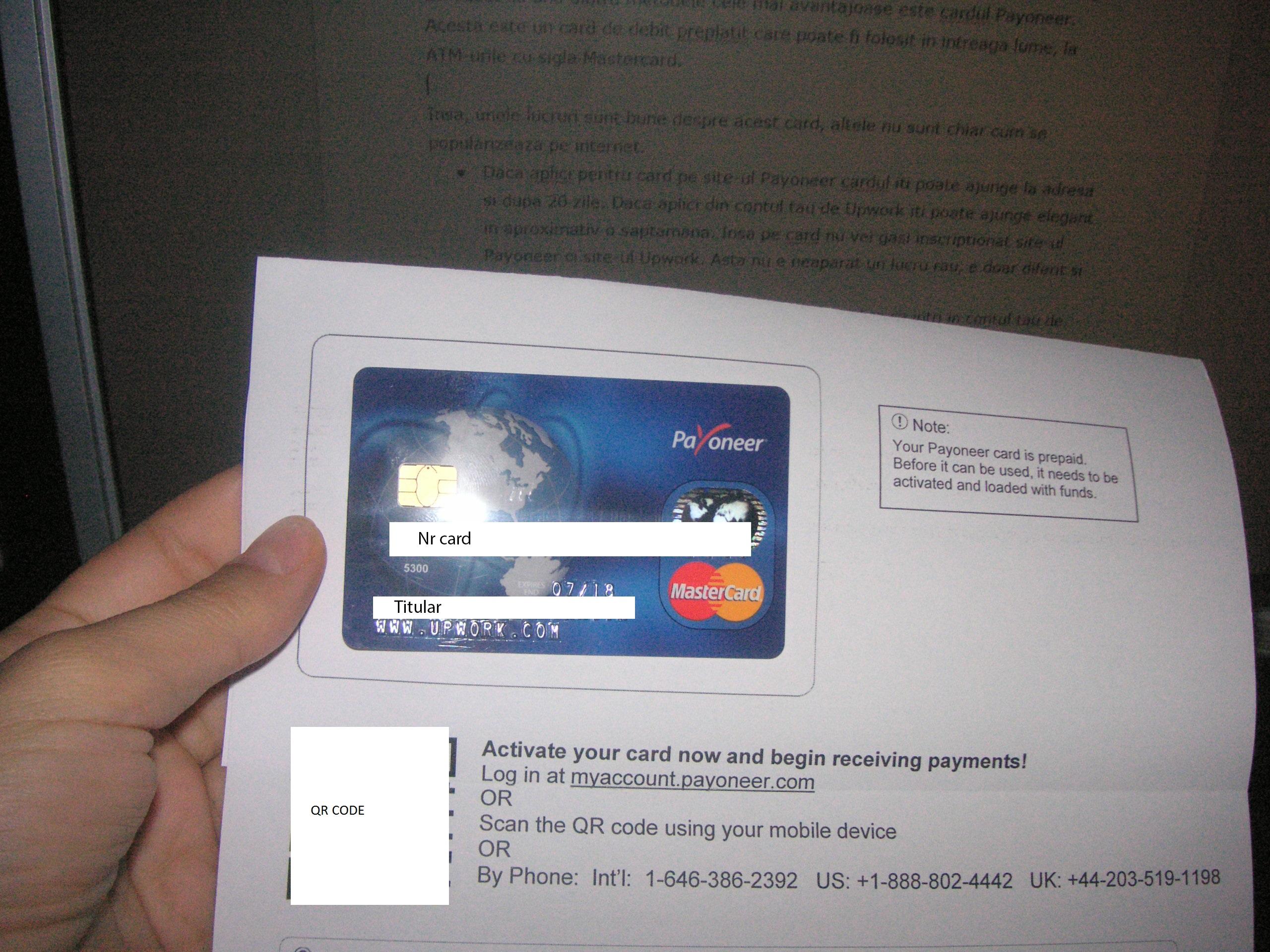 Ce am aflat despre cardul Payoneer pentru freelanceri
